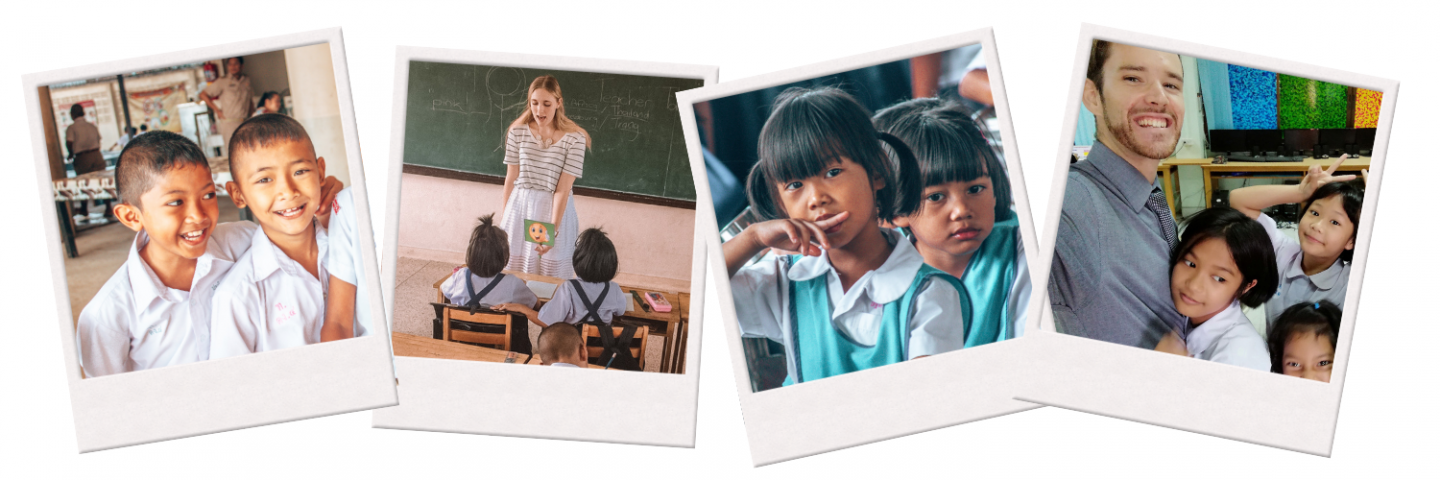 Snapshots of various students in Thailand