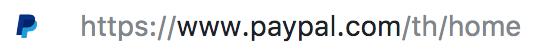 Thai PayPal URL