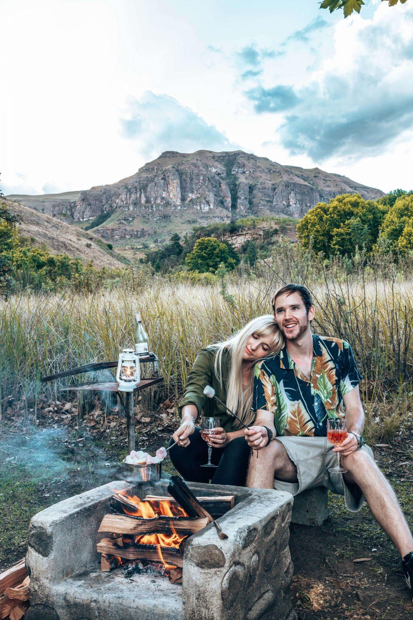 Roasting Marshmallows at Injisuthi campsite