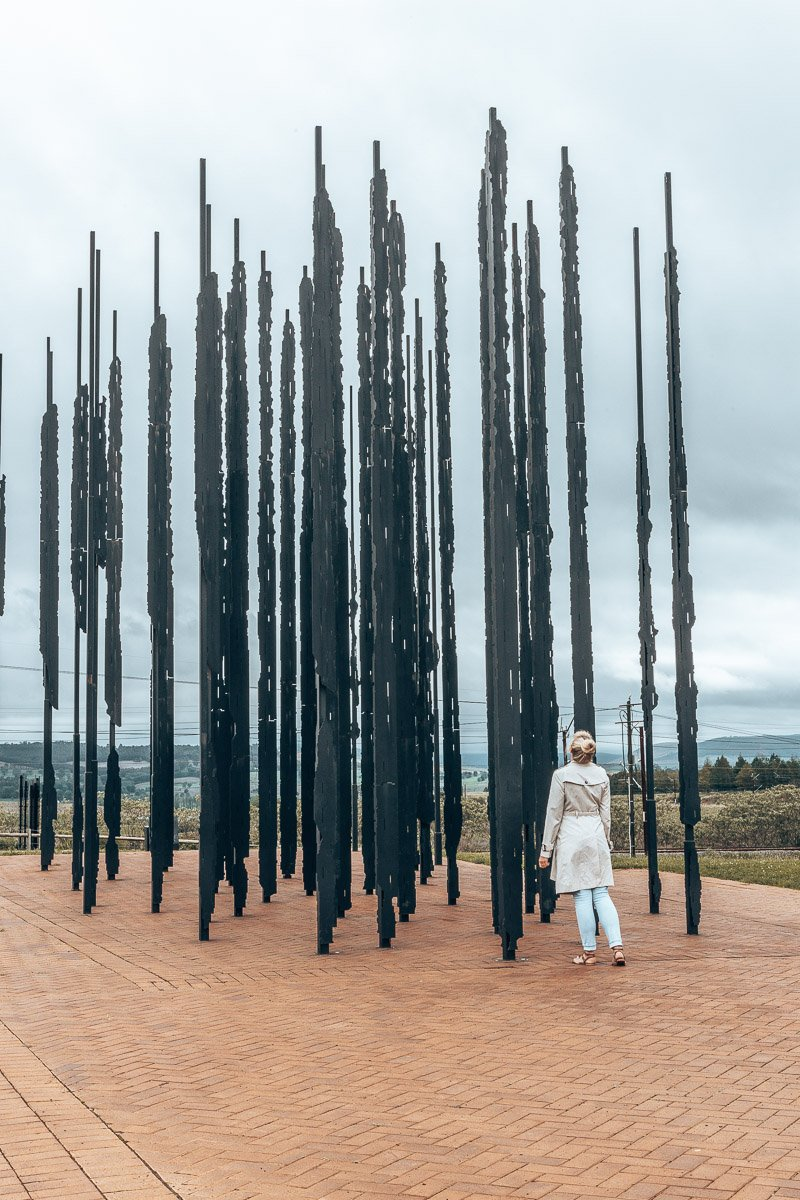 Tammy at the Nelson Mandela Capture Site