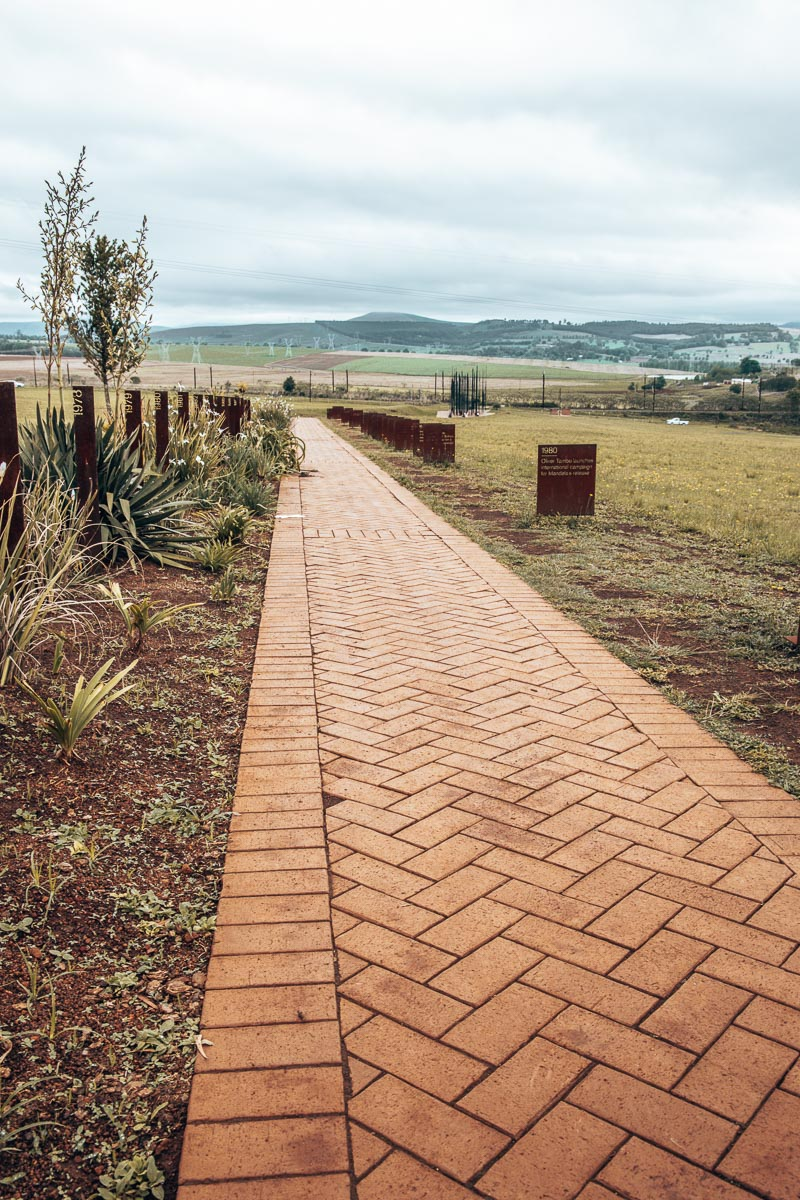 Walkway at the Nelson Mandela Capture Site