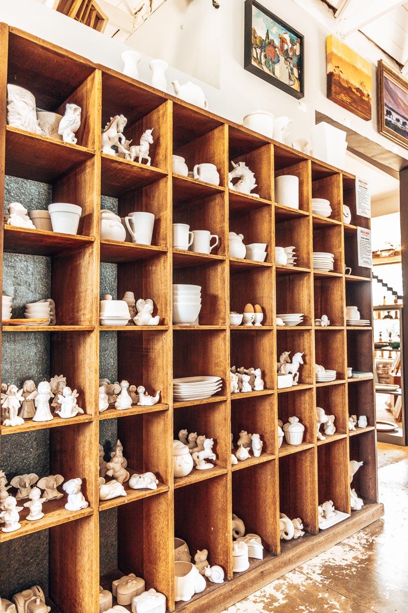 Shelves at Zulu Lulu Art House