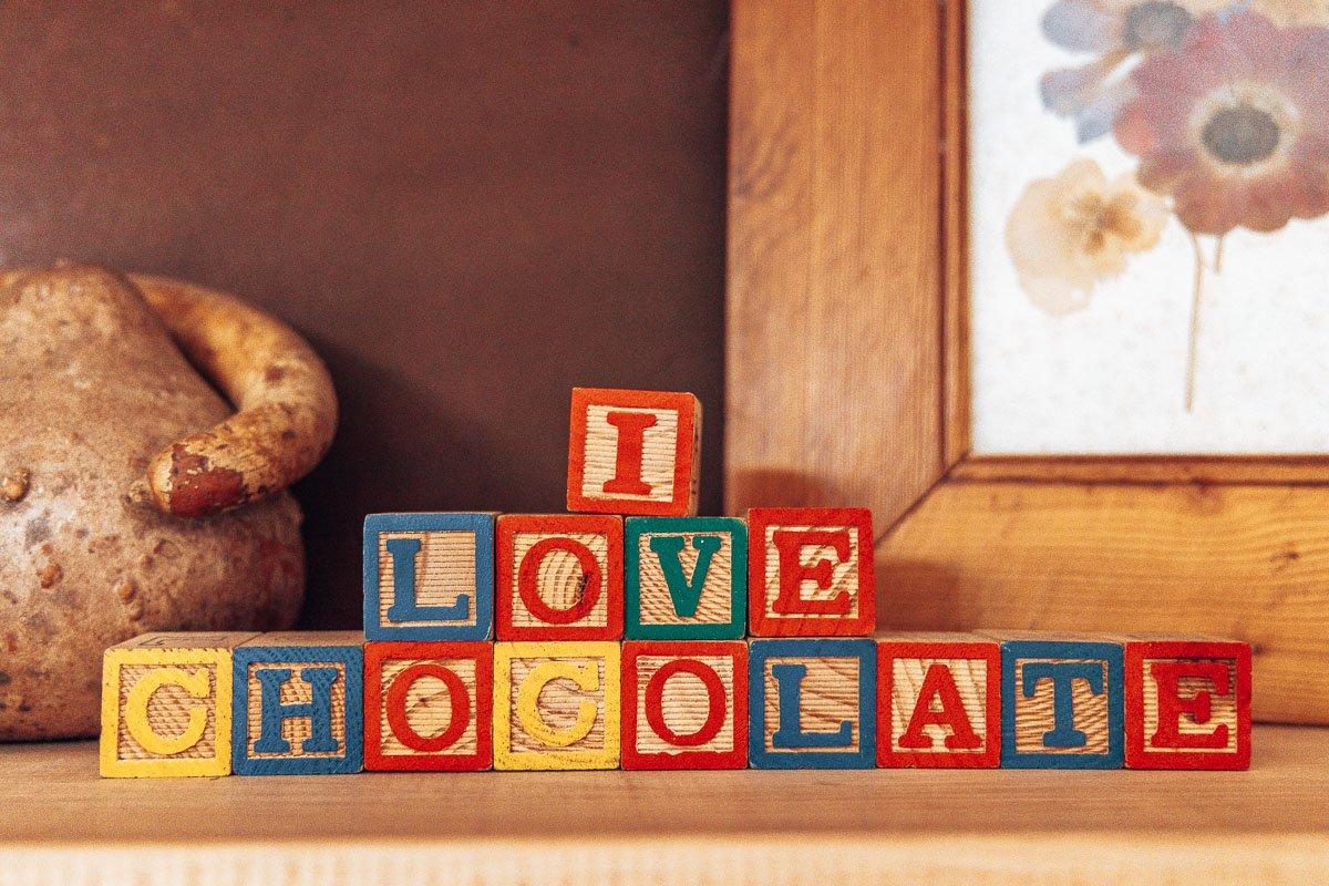 I love chocolate blocks