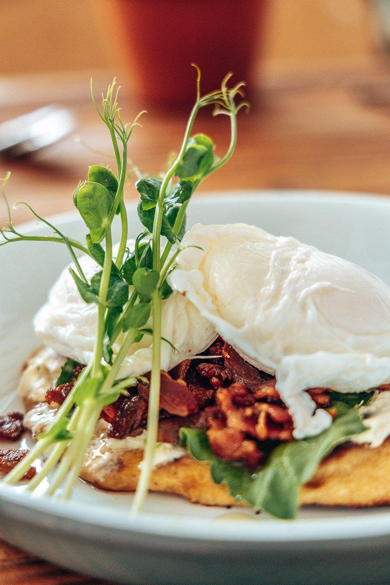 Eggs Benedict at Barn Owl Coffee Shop