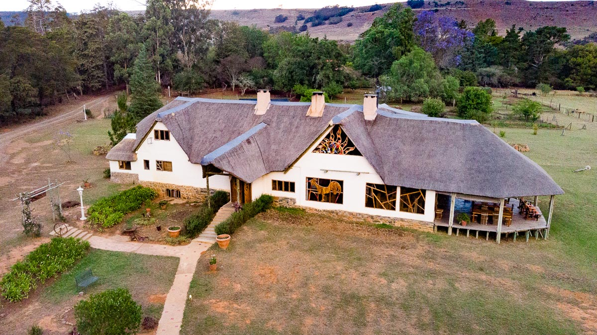 Drone shot of Antbear Eco Lodge