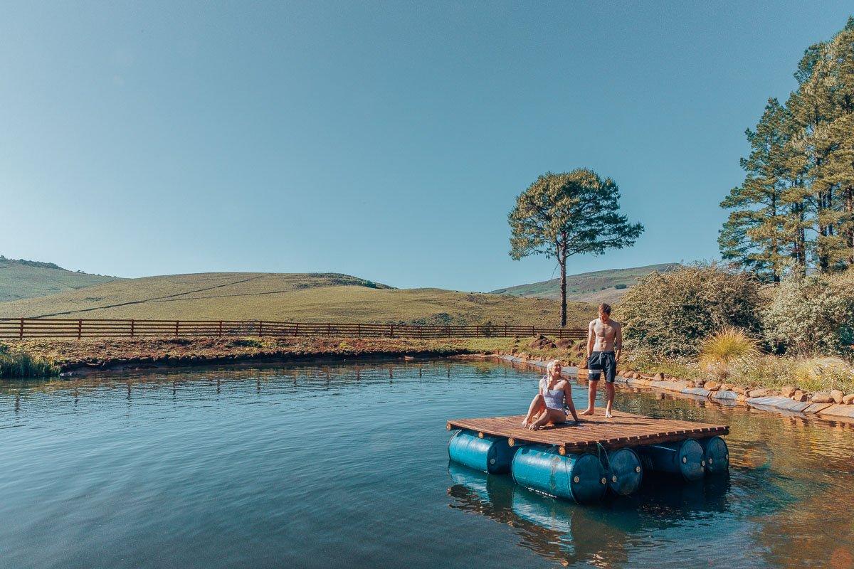 Swimming in the dam