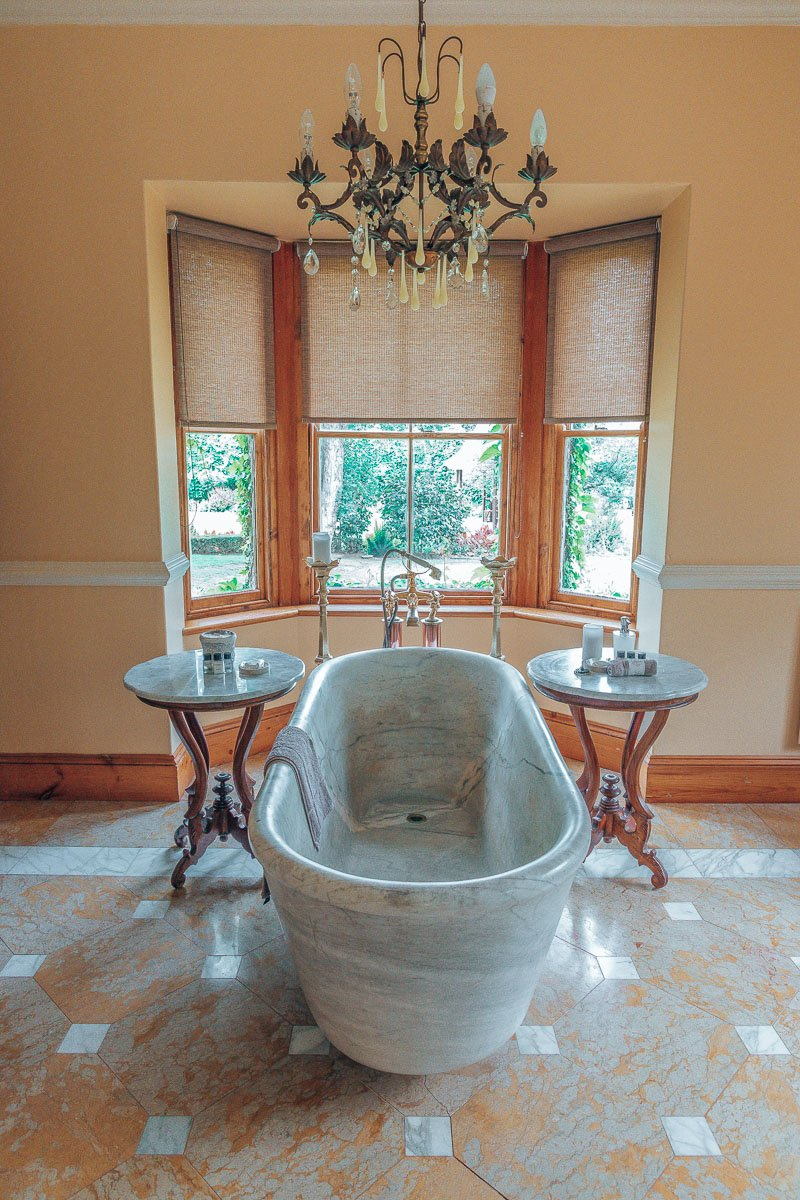 Marble Bath Tub in The Manor House Suites