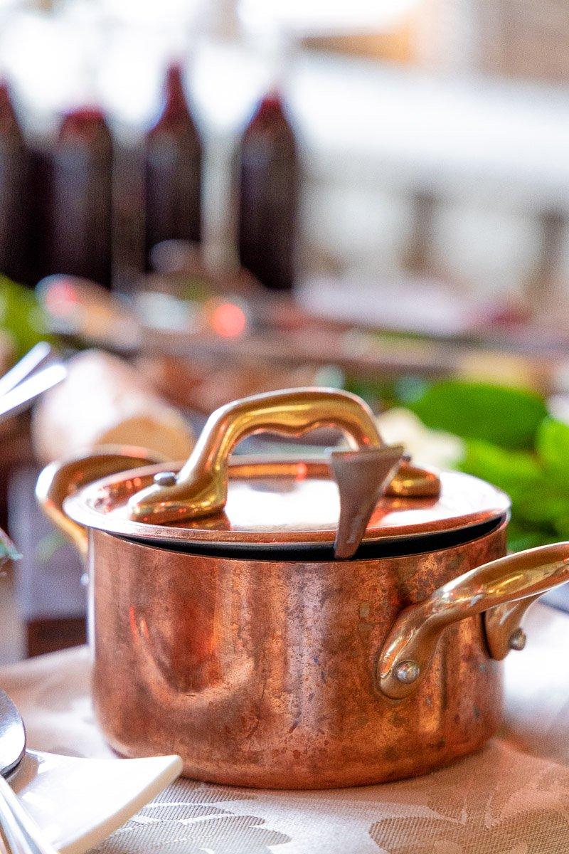 A pot of homemade marmalade