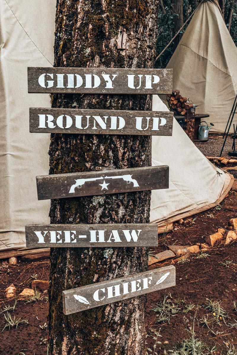 Names of the Tepee Tents on Site