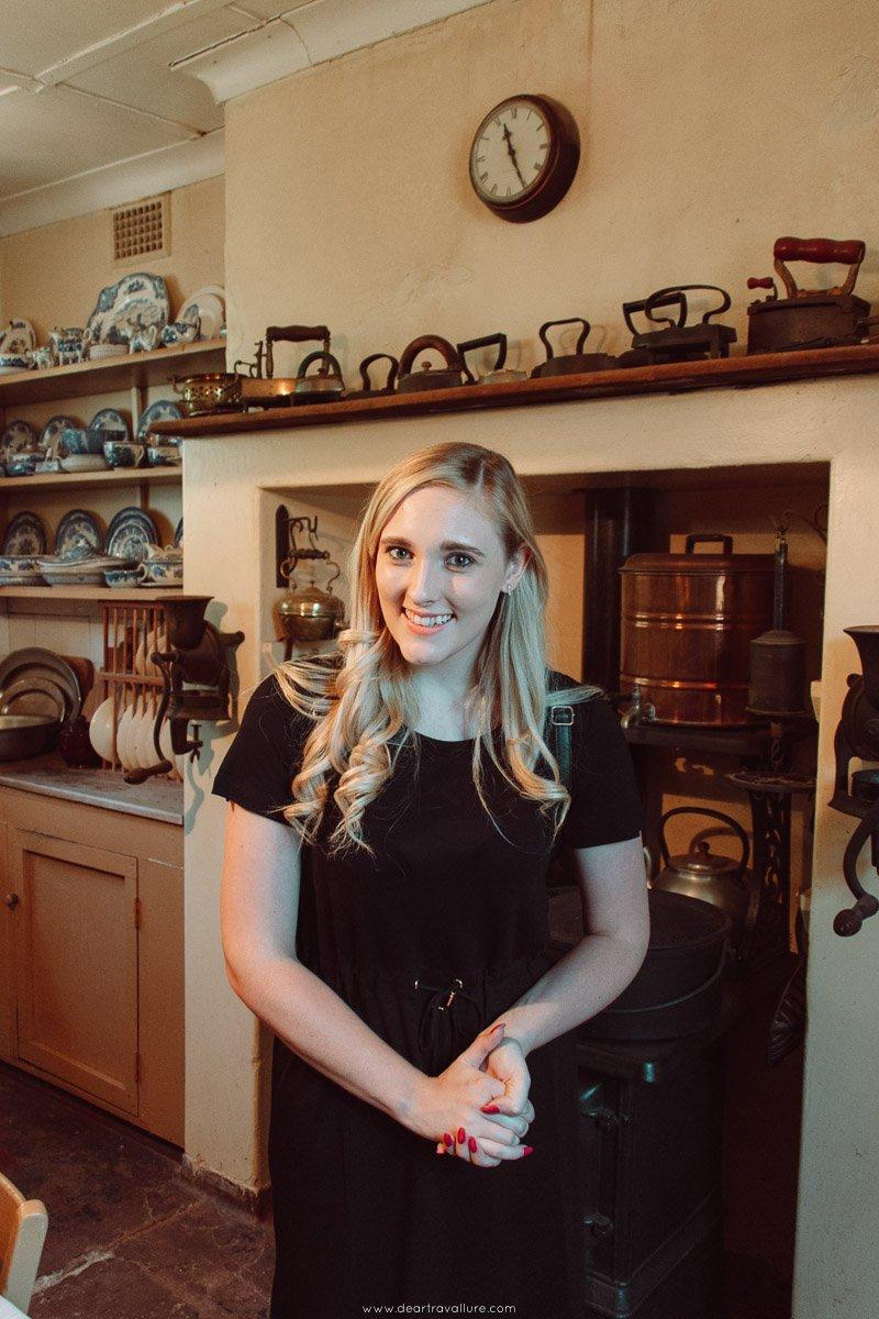 Girl in Victorian Kitchen