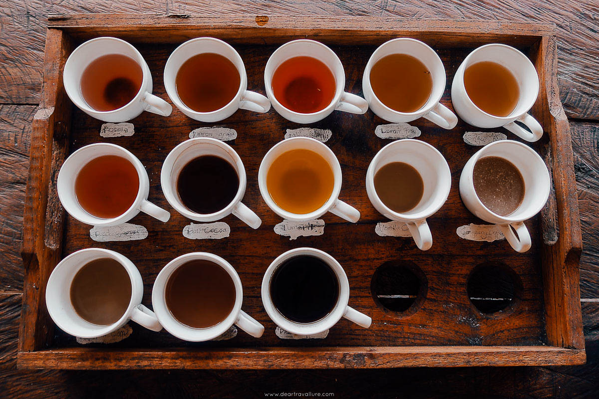 Coffee and Tea Platter at a Balinese Coffee Tasting