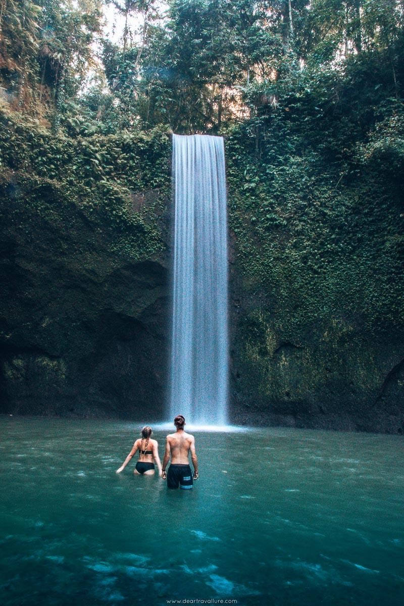 Byron and Tammy walking into the Tibumana Waterfall