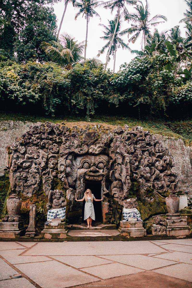Tammy at the mouth of the Goa Gajah, Elephant Cave