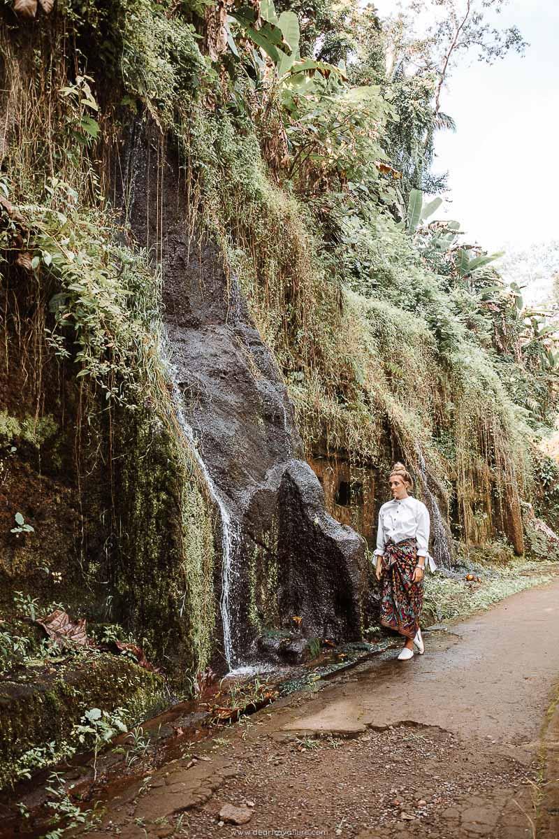 Tammy walking around Pura Gunung Kawi