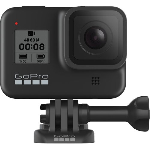 A GoPro Hero 8 Black.