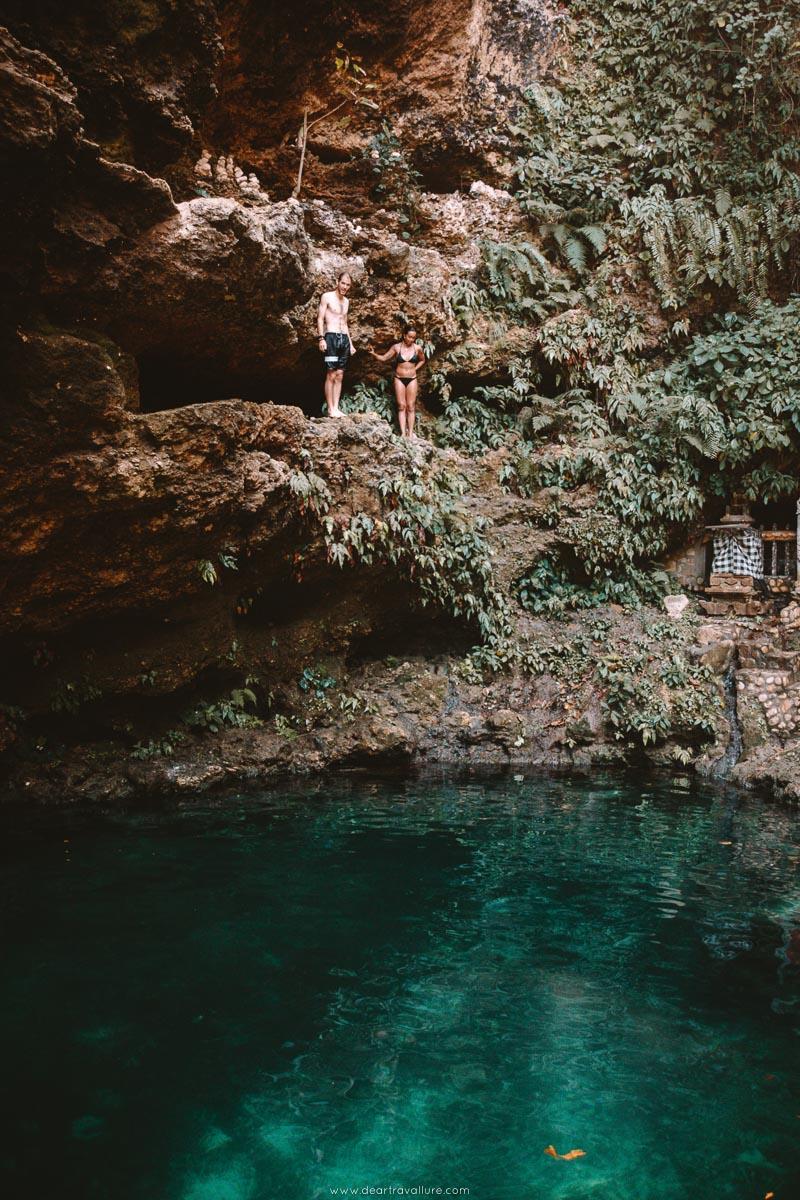Byron Jumping into Tembelings Natural Pools