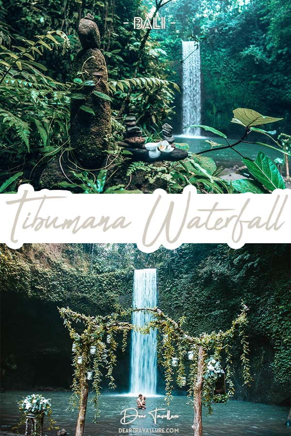 Tibumana Waterfall Pinterest Image