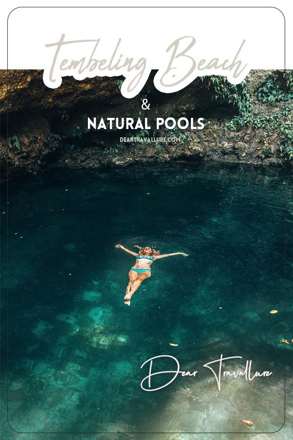 Tembeling Beach & Natural Pools - Pinterest Template