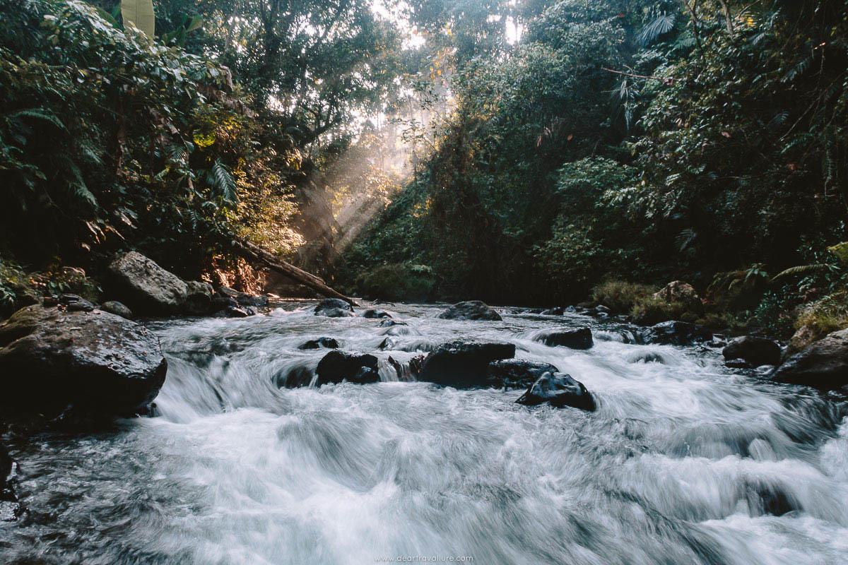 The River at Pengempu Waterfall