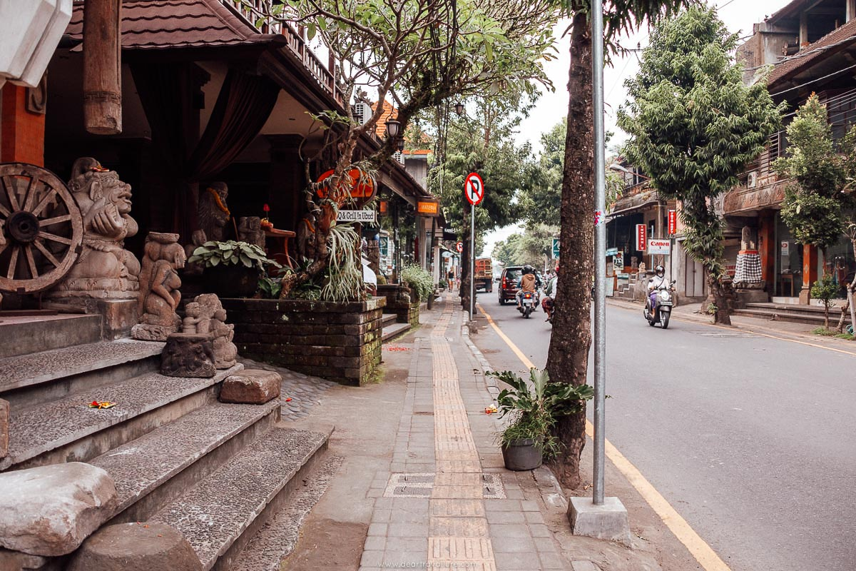 View of a street in Ubud