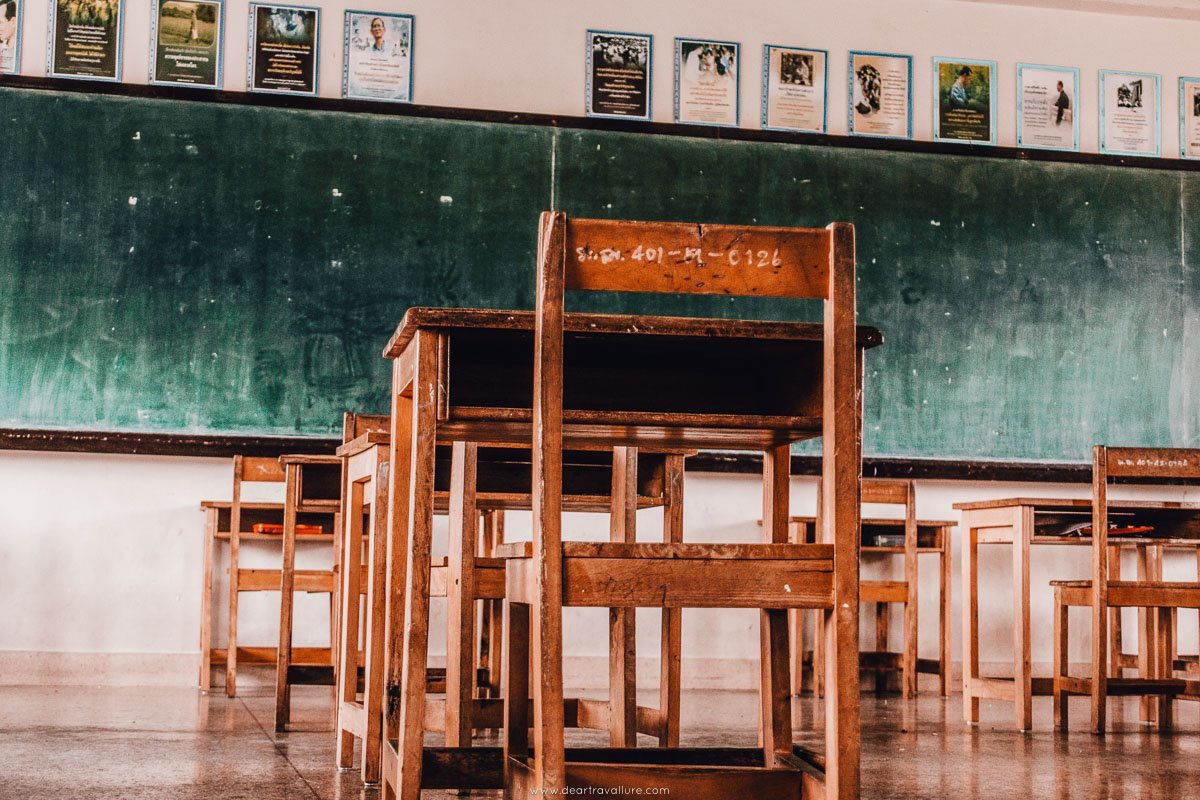 Tammy's Empty Classroom