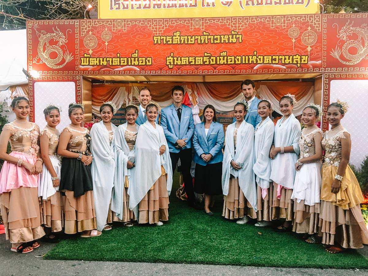 Teachers with Thai Dancers at the English Festival + Chinese New year
