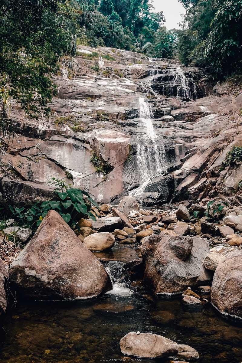 Ka Chong Waterfall in the dry season
