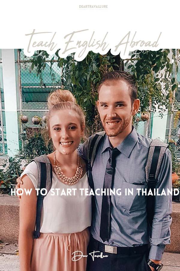 How to Start Teaching In Thailand - Pinterest Image