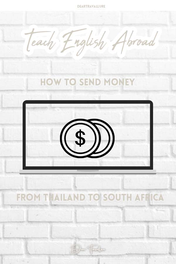 How to send Money from Thailand to South Africa - Pinterest Image
