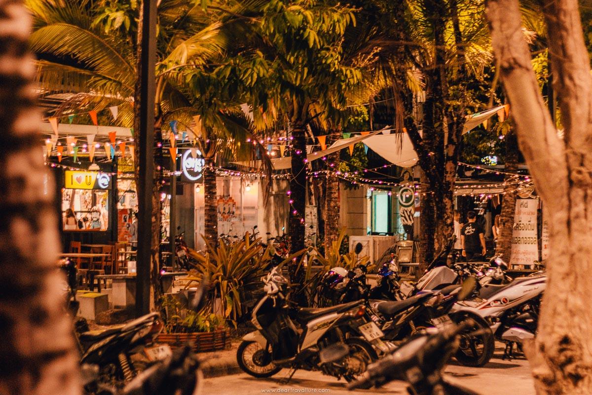Motorcycles parked at Cinta Garden