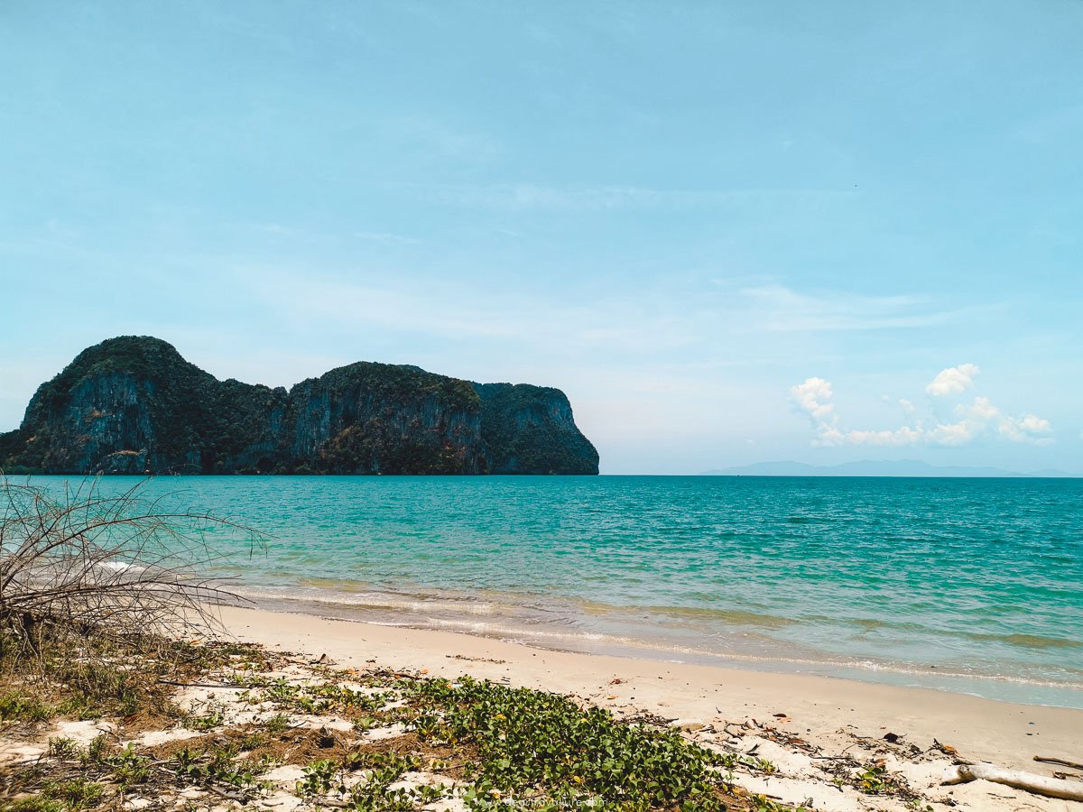 Rajamangala Beach with the brilliant turquoise water