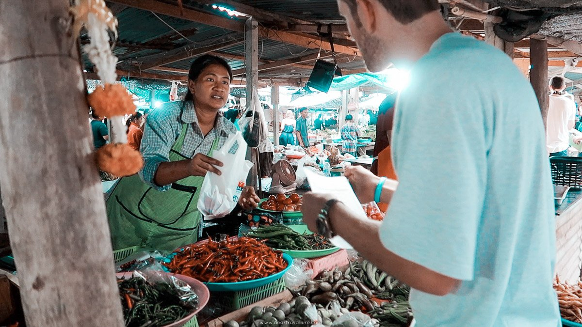 Shopping at a local market in Hua Hin