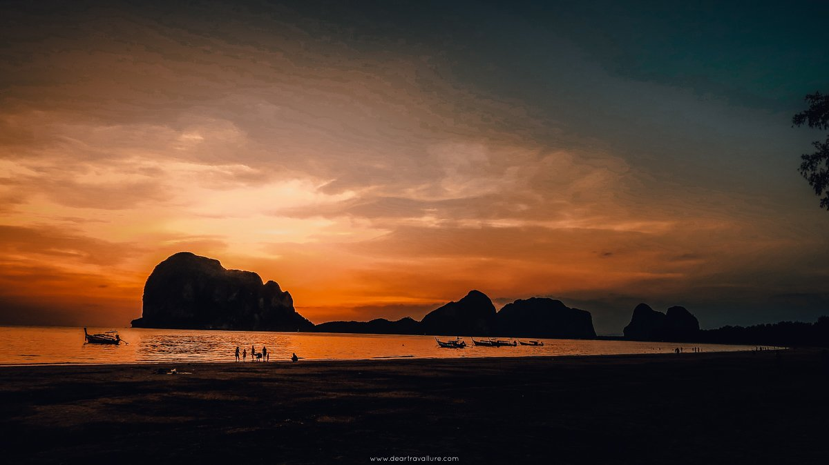 Pak Meng Beach at sunset