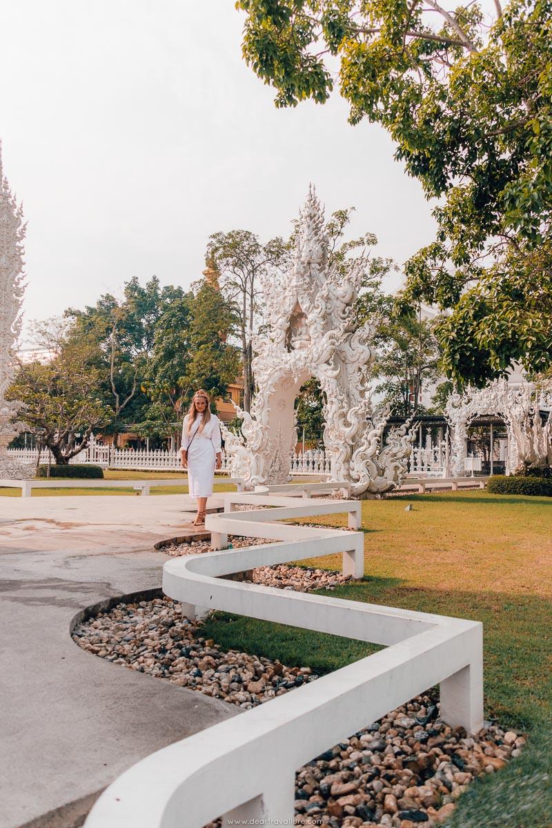 Tammy Walking Around The White Temple