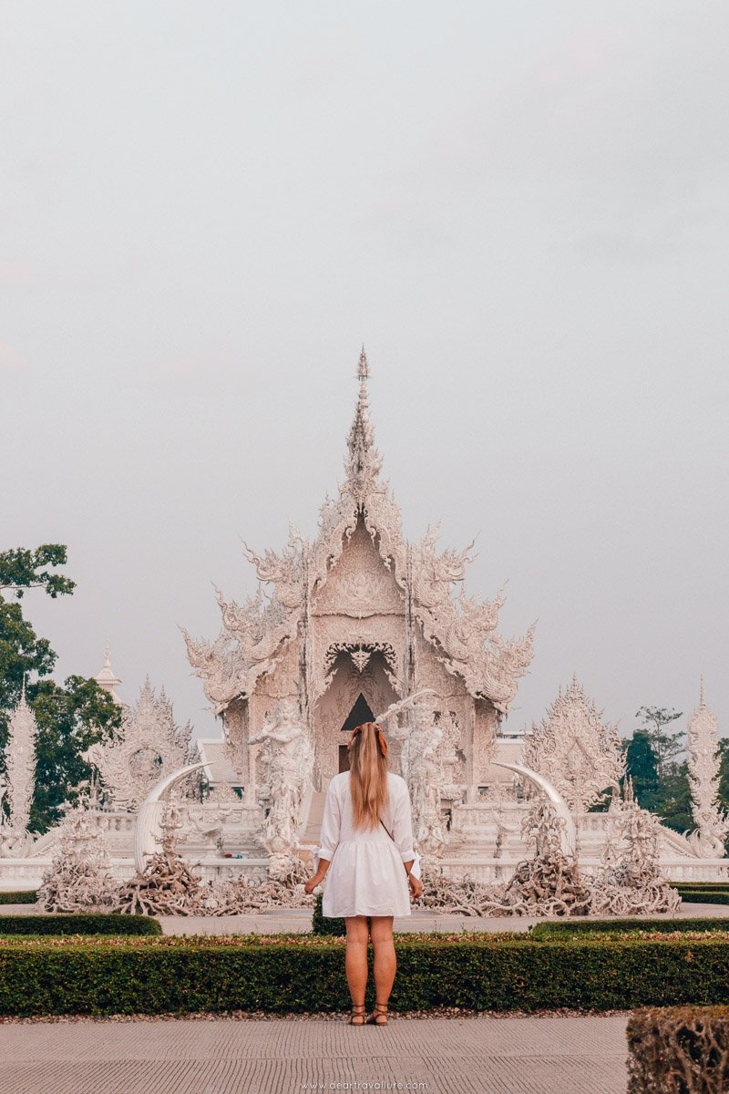 Tammy standing in front of the White Temple