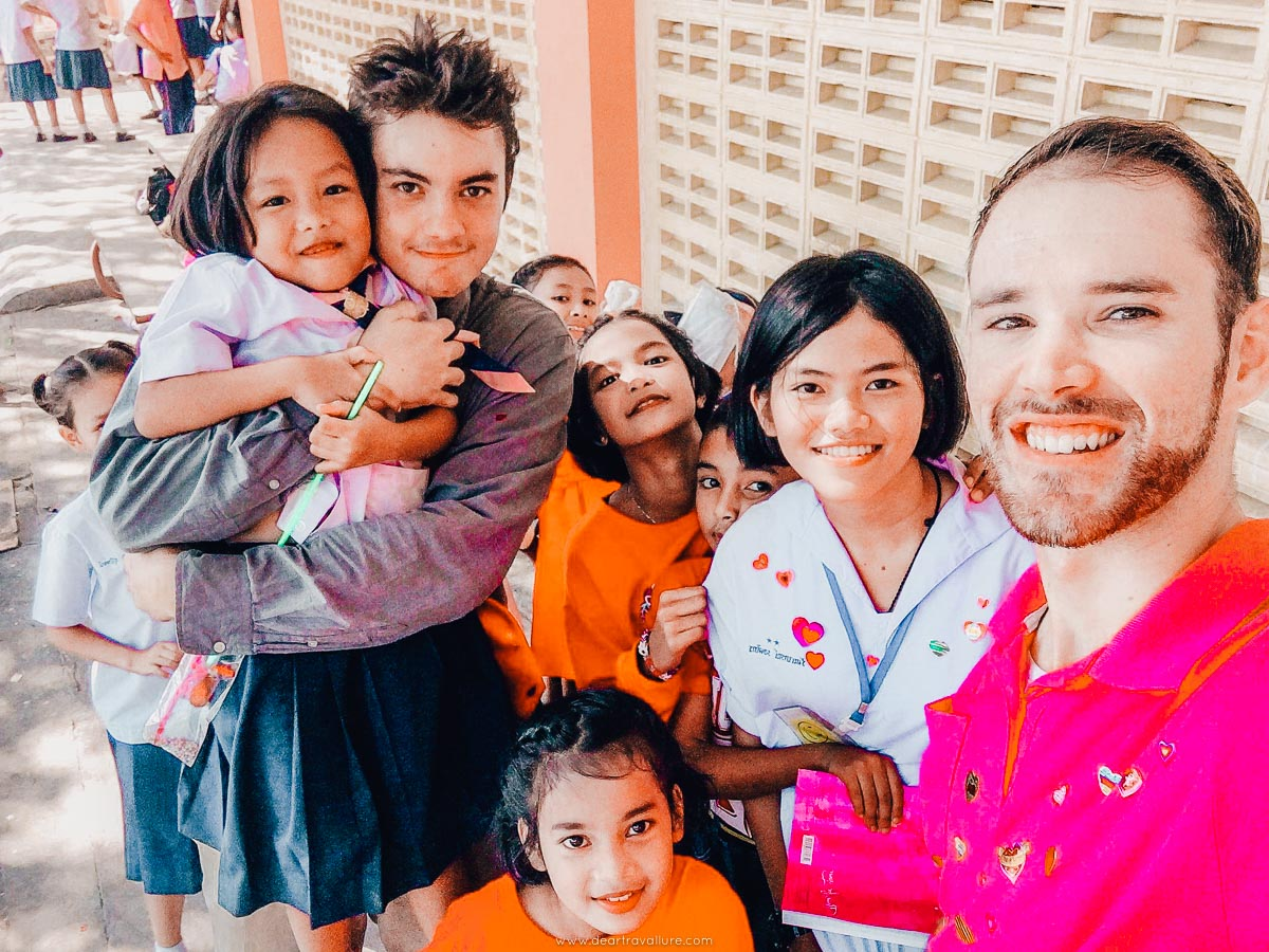 Teacher Byron + Teacher Josh with their students