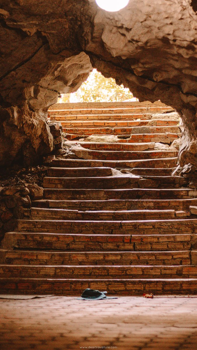Steps leading out of the caves