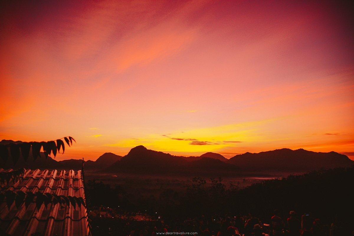 The sunrise from Kuan Dancing Bird Viewpoint