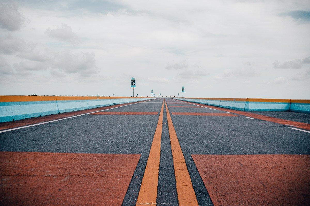 A view of the Ekachai Bridge road