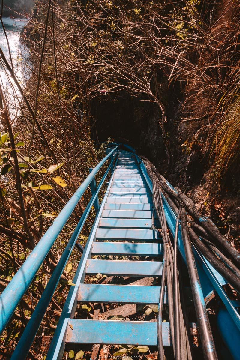 Steep Stairs at Peguyangan Waterfall