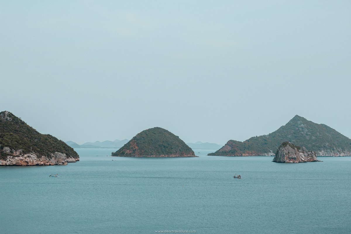 View over the sea on the way to Phraya Nakhon Cave