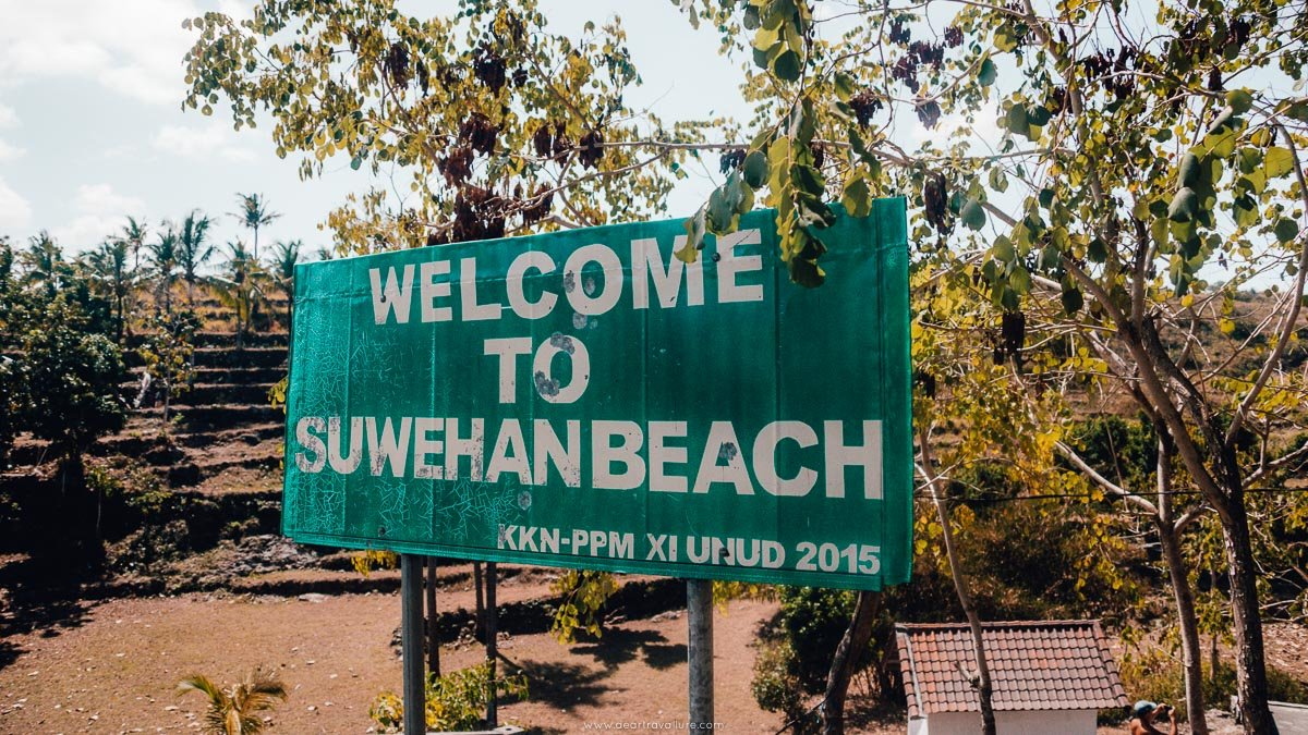 Welcome to Suwehan Beach Sign