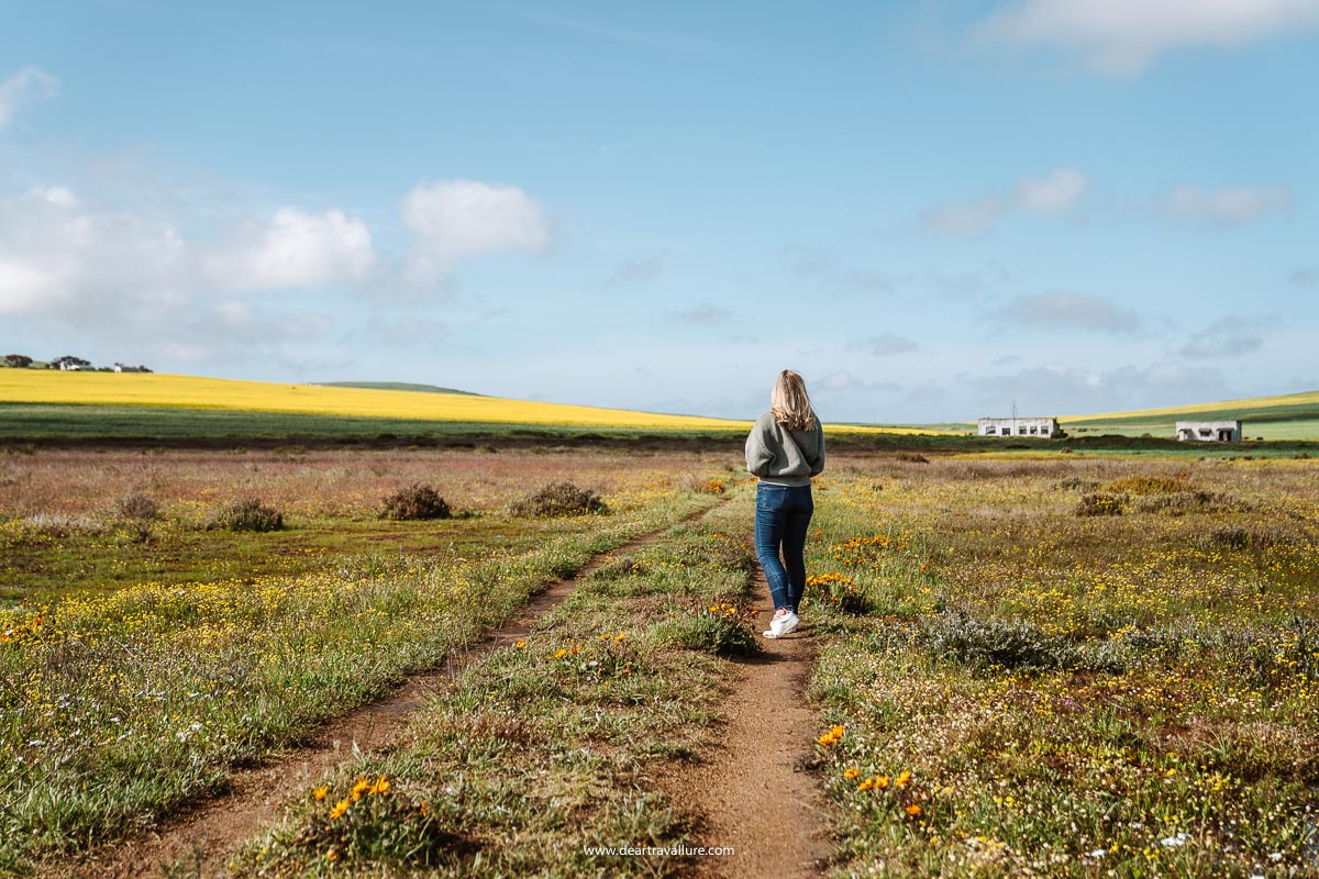 Tammy walking through the field at Tinie Versfeld