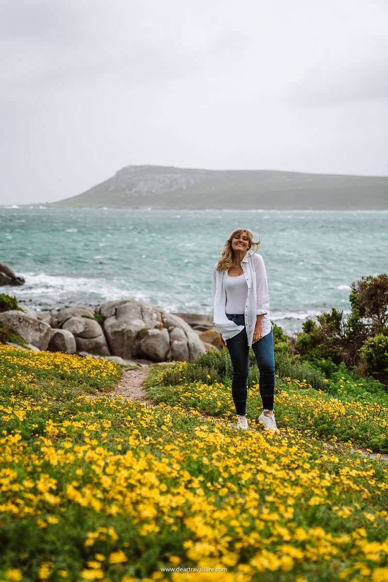 Tammy standing the the West Coast National Park