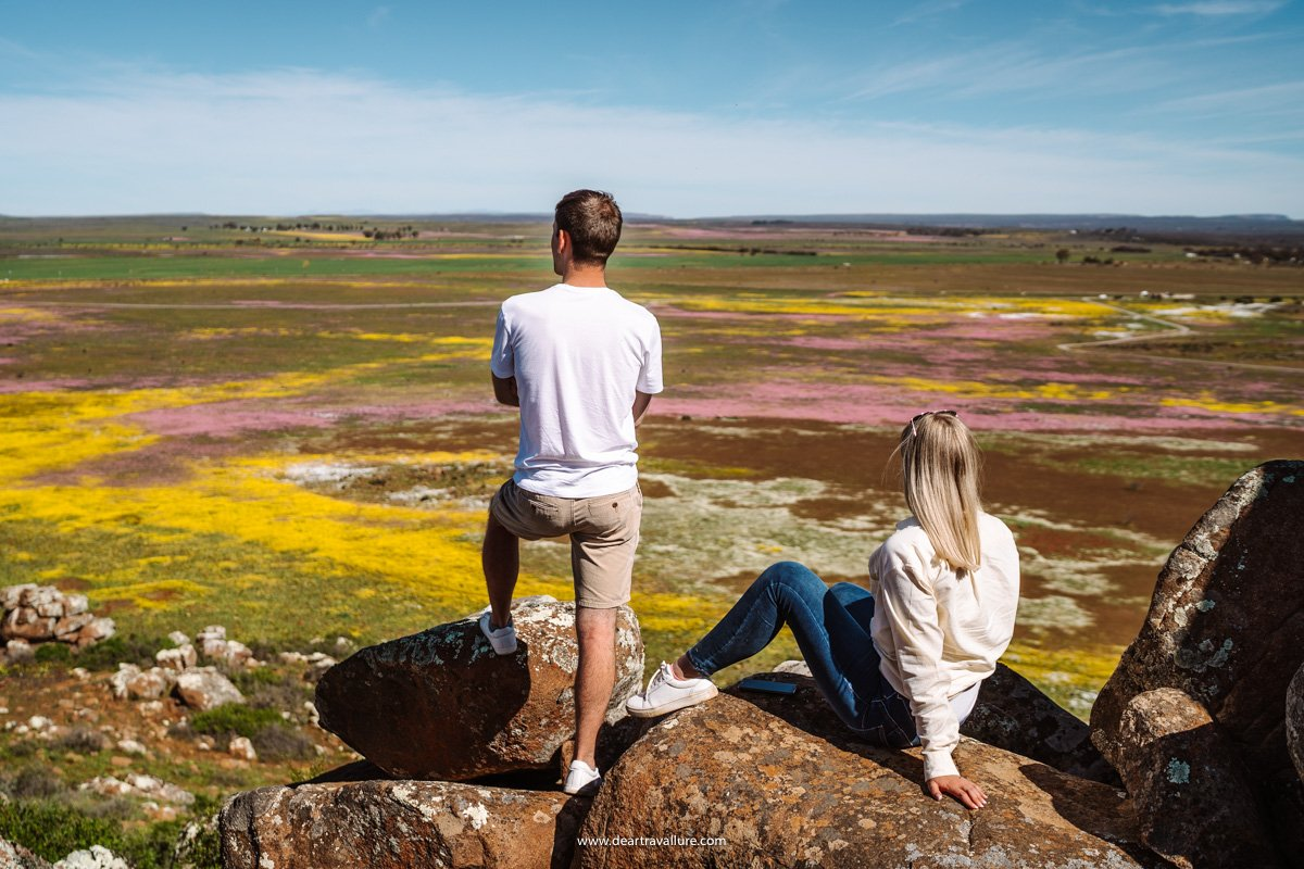 Sitting on the Nieuwoudtville Wild Flower Reserve lookout point
